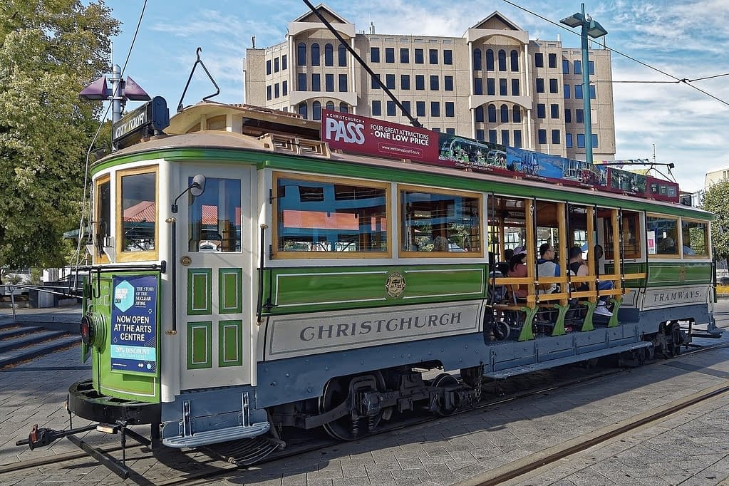 Tram in Christchurch New Zealand